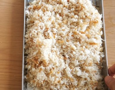 Homemade panko breadcrumbs