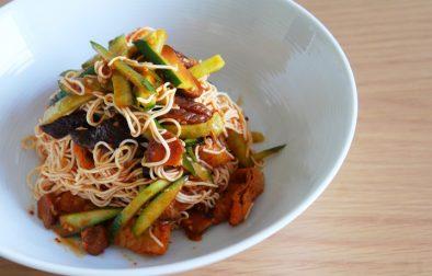 vegan korean-spicy-cold-tofu-noodles ヴィーガンビビン麺