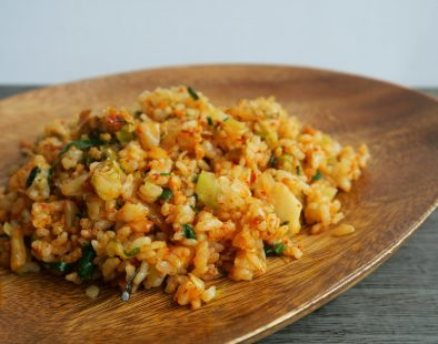 Fried-rice-with-gyoza-stuffing